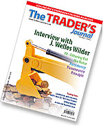 Traders Journal Cover June 06 feauring Welles Wilder personal interview